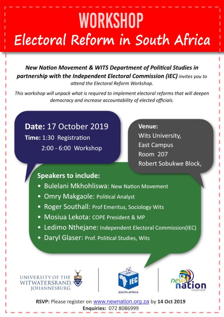 Workshop Invite - Oct 2019